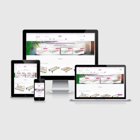 Создание интернет-магазин матрасов