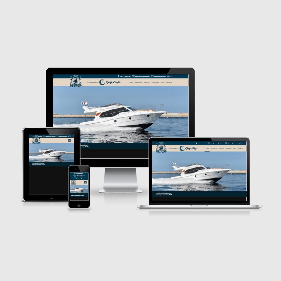 Создание сайта Admiral Yachts