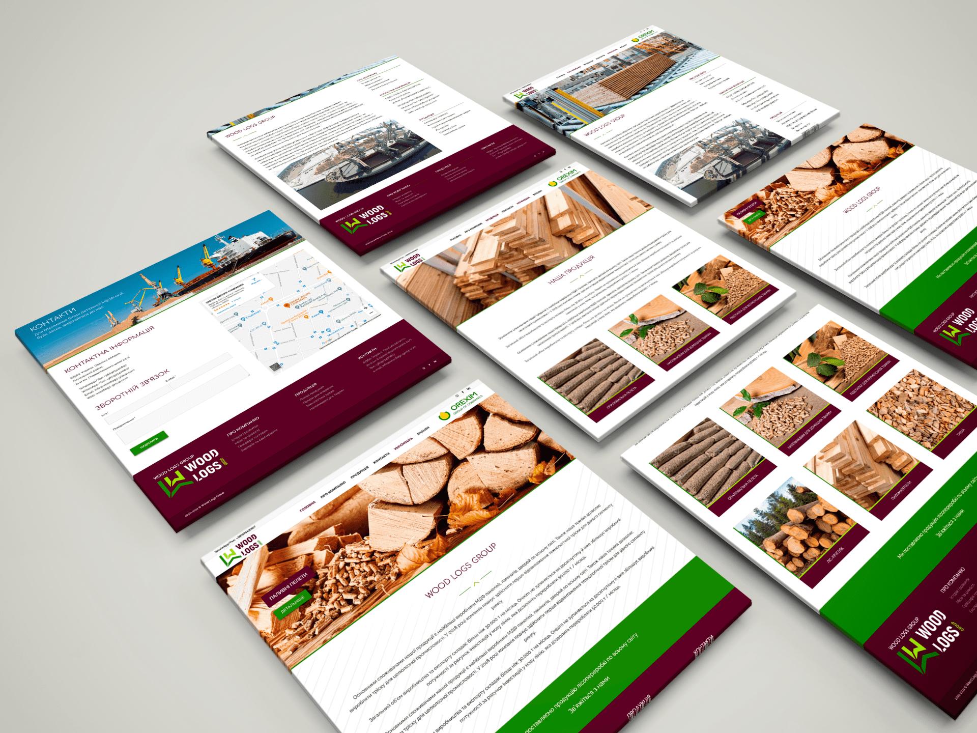 Разработка сайта под ключ с индивидуальным дизайном для производственной компании